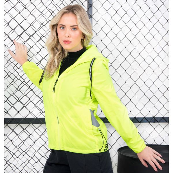 Jaqueta Corta Vento Color Ajustável