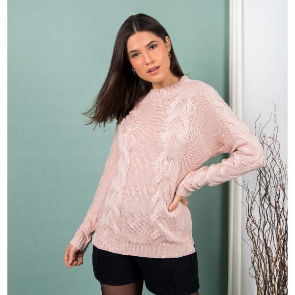 Suéter Tricot Trançado