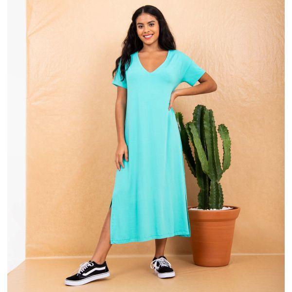 Vestido Tee Dress Decote V