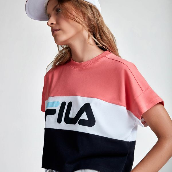 T-shirt Cropped Tricolor Fila
